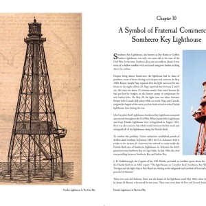 Spread for Florida's Lighthouses in the Civil War