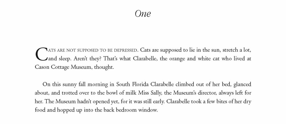 Chapter one opening page for The Cat at Cason Cottage